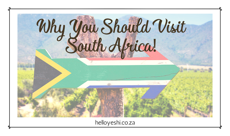 Why You Should Visit South Africa!