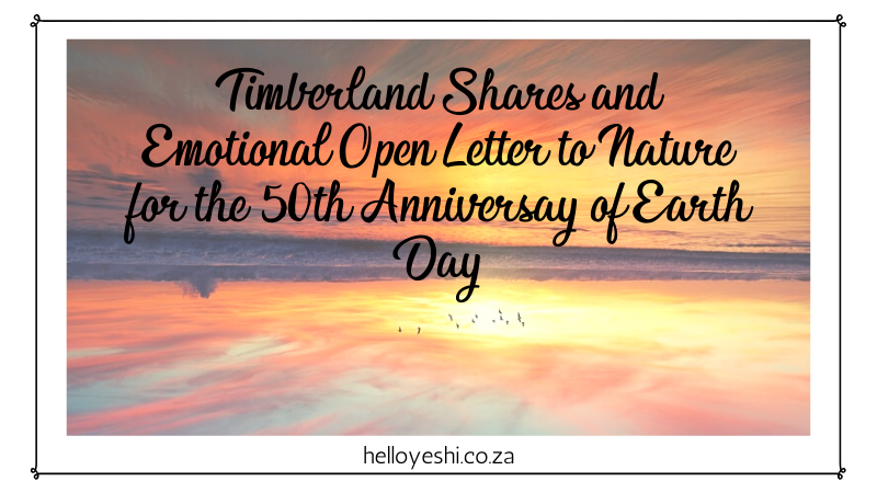 Timberland Open Letter to Nature Hello Yeshi